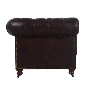 Canapé chesterfield en cuir 2 places antic tobacco - Coventry - Visuel n°3