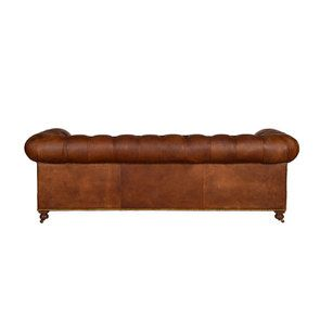 Canapé chesterfield en cuir marron clair 3 places - Coventry - Visuel n°4