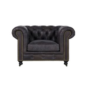 Fauteuil chesterfield en cuir - Coventry
