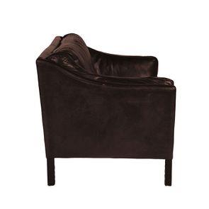 Canapé en cuir 2 places Marron Antic Tobacco - Darwin - Visuel n°3
