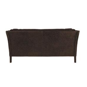 Canapé en cuir 3 places Noir Destroyed Black - Darwin - Visuel n°4