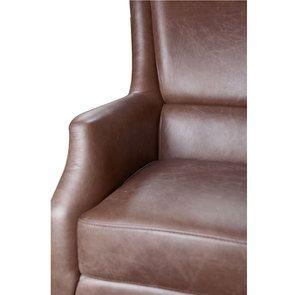 Fauteuil en cuir marron - Harvard - Visuel n°13