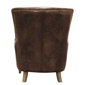 Fauteuil en cuir marron Original Vintage Coffee- Harvard - Visuel n°4