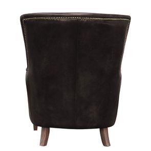 Fauteuil en cuir marron Original Vintage Expresso - Harvard - Visuel n°4
