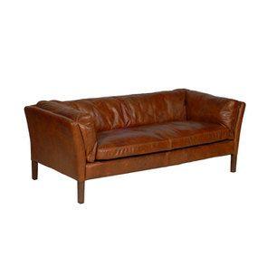 Canapé en cuir marron antic whisky 3 places - Seattle - Visuel n°2