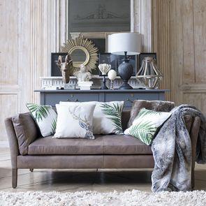 Canapé en cuir marron vieilli 3 places - Seattle - Visuel n°4