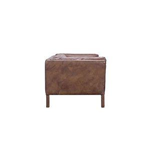 Canapé en cuir marron vieilli 3 places - Seattle - Visuel n°6