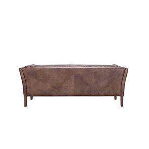 Canapé en cuir marron vieilli 3 places - Seattle - Visuel n°7
