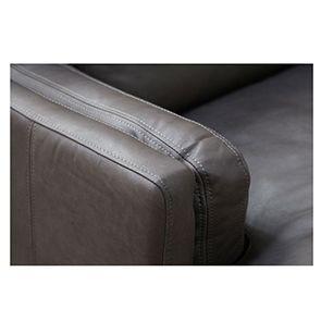 Canapé en cuir gris 2 places - Stanford - Visuel n°5