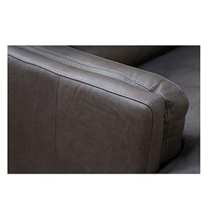 Canapé en cuir gris 2 places - Stanford - Visuel n°6
