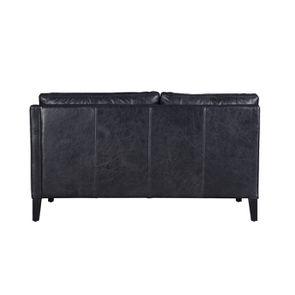 Canapé en cuir noir 2 places - Stanford - Visuel n°7