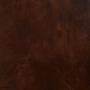 Fauteuil club en cuir marron et tissu rétro - Yale - Visuel n°10