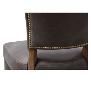 Chaise en cuir - Coleen (lot de 2)