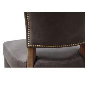 Chaise en cuir - Coleen (lot de 2) - Visuel n°2