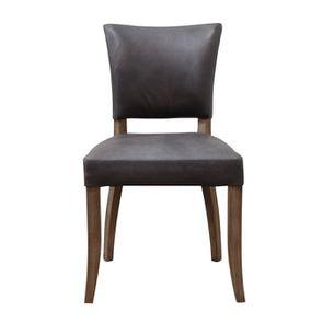 Chaise en cuir - Coleen (lot de 2) - Visuel n°1