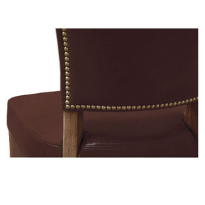Chaise en cuir Marron Riders Mocha - Coleen (lot de 2) - Visuel n°5