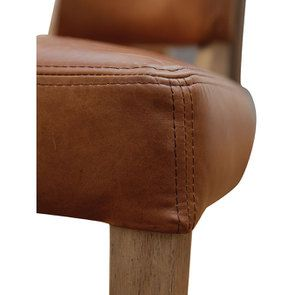 Chaise en cuir Marron Riders Nut - Coleen (lot de 2) - Visuel n°11