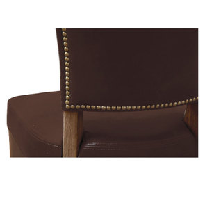 Chaise en cuir Marron Antic Whisky - Coleen (lot de 2)