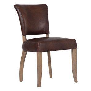 Chaise en cuir Marron Antic Whisky - Coleen (lot de 2) - Visuel n°2