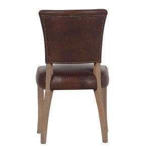 Chaise en cuir Marron Antic Whisky - Coleen (lot de 2) - Visuel n°3