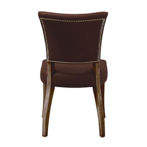 Chaise en cuir Marron Antic Whisky - Coleen (lot de 2) - Visuel n°4