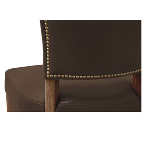 Chaise en cuir Marron Destroyed Raw- Coleen (lot de 2)