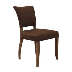 Chaise en cuir Marron Destroyed Raw- Coleen (lot de 2) - Visuel n°2