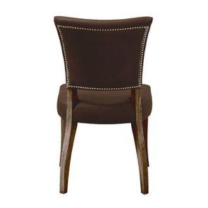 Chaise en cuir Marron Destroyed Raw- Coleen (lot de 2) - Visuel n°4