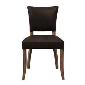Chaise en cuir Noir Napinha Ebony- Coleen (lot de 2)