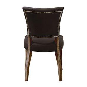 Chaise en cuir Noir Napinha Ebony- Coleen (lot de 2) - Visuel n°4