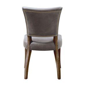 Chaise en cuir Gris Napinha Graphite - Coleen (lot de 2) - Visuel n°4