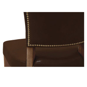 Chaise en cuir Marron Riders Cocoa - Coleen (lot de 2) - Visuel n°5