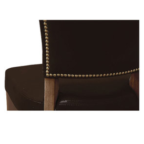 Chaise en cuir Noir Riders Black - Coleen (lot de 2)