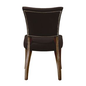 Chaise en cuir Noir Riders Black - Coleen (lot de 2) - Visuel n°4