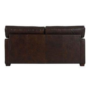 Canapé 2 places en cuir marron - Hastings - Visuel n°4