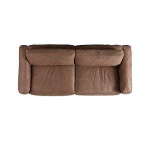 Canapé 3 places en cuir taupe - Kingston - Visuel n°5