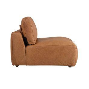 Canapé 1 place sans accoudoir en cuir camel - Kingston - Visuel n°3