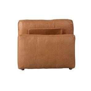 Canapé 1 place sans accoudoir en cuir camel - Kingston - Visuel n°4