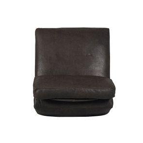 Canapé 1 place sans accoudoir en cuir graphite - Kingston - Visuel n°5