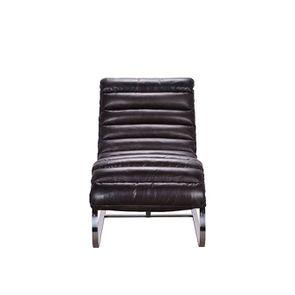 Chaise en cuir noir - Auckland - Visuel n°4