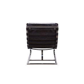 Chaise en cuir noir - Auckland - Visuel n°5
