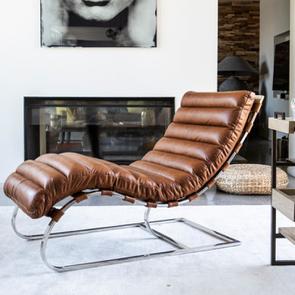 Chaise en cuir marron - Auckland - Visuel n°3