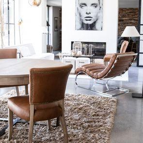 Chaise en cuir marron - Auckland - Visuel n°4