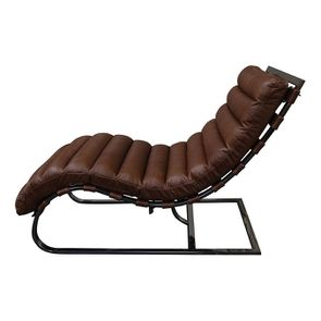 Chaise en cuir marron - Auckland
