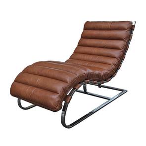 Chaise en cuir marron - Auckland - Visuel n°5