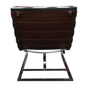 Chaise en cuir marron - Auckland - Visuel n°7