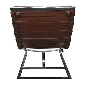 Chaise en cuir marron - Auckland - Visuel n°8