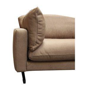 Canapé 3 places en cuir taupe - Dublin - Visuel n°10