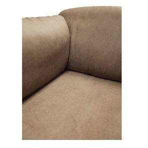 Canapé 3 places en cuir taupe - Dublin - Visuel n°11