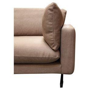 Canapé 3 places en cuir taupe - Dublin - Visuel n°14